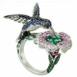 Turkish Topaz Hummingbird Ring Sizes 6 - 10